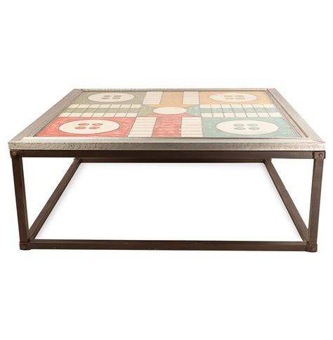 ludo coffee table ludo board top industrial loft iron coffee table