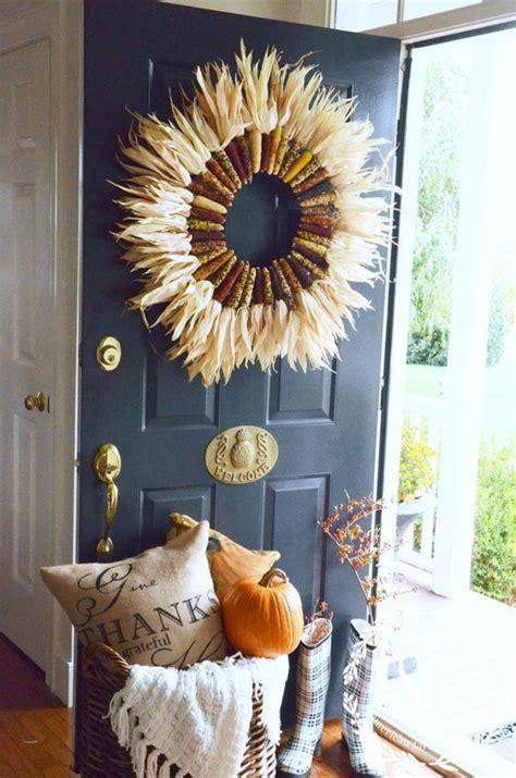 easy thanksgiving front door decorations ideas