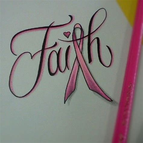 breast cancer ribbon and cross tattoo faith breast cancer ribbon ideas