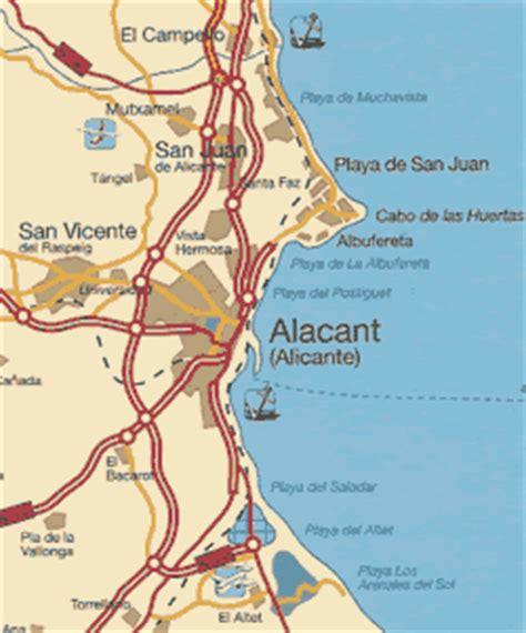map of alicante area alicante map