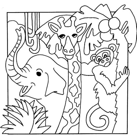 printable coloring pages jungle jungle safari coloring pages images of animal coloring