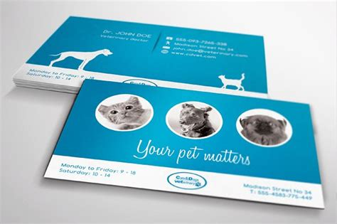 veterinarian business card template free planmade