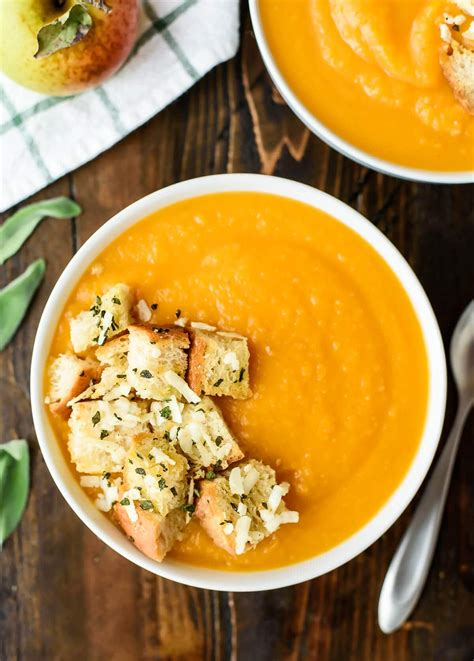 butternut squash soup butternut squash apple soup recipe well plated by erin