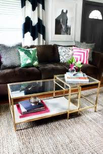 Ikea Coffee Table Hack by Diy Tuesday Easy Gold Ikea Coffee Table Hack