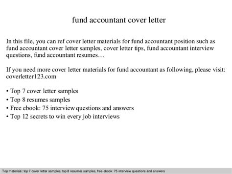 fund accountant cover letter fund accountant cover letter
