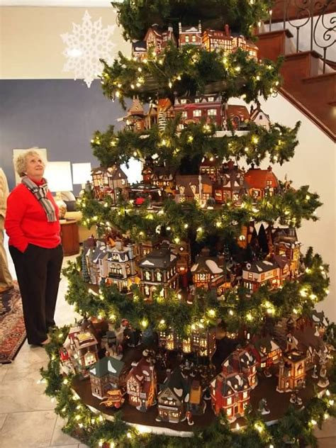 christmas village tree display pattern pin by robyn t on christmas pinterest