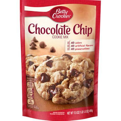 betty crocker cookies betty crocker chocolate chip cookie mix 17 5 oz walmart