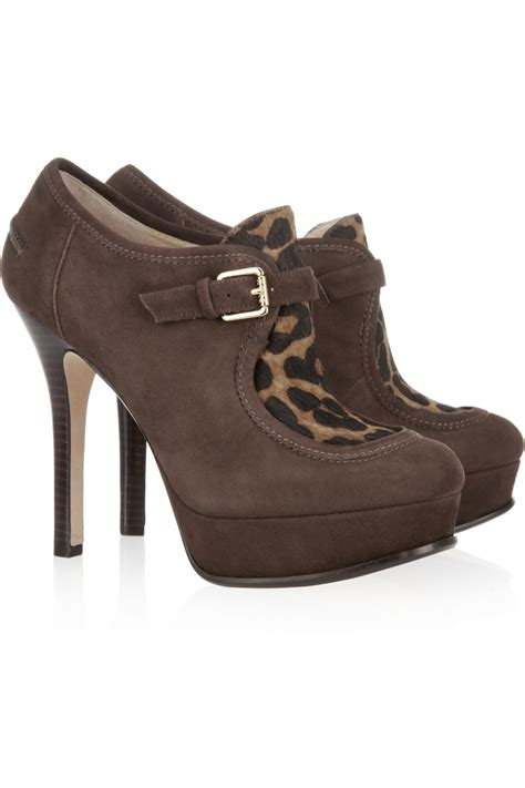 kors by michael kors irving suede and calf hair ankle