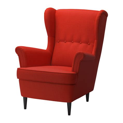 ikea orange armchair strandmon wing chair skiftebo orange ikea