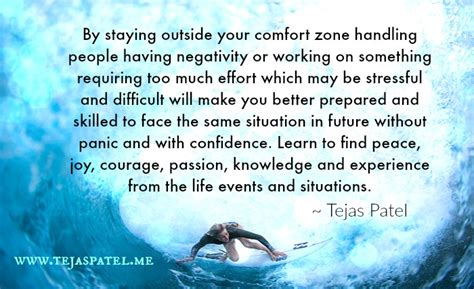 outside your comfort zone staying outside your comfort zone tejas patel