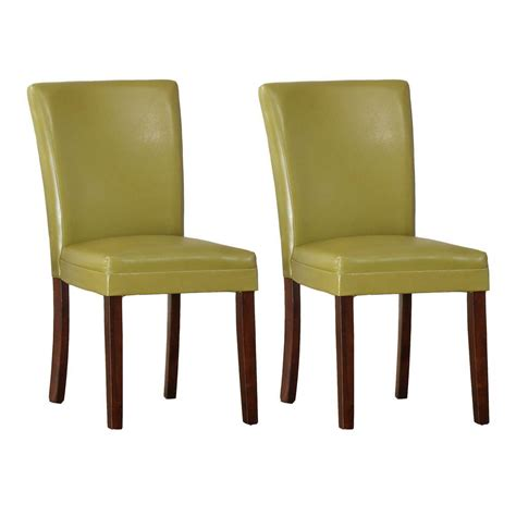 Home Depot Dining Chairs Homesullivan Chartreuse Yellow Parson Dining Chair Set Of 2 403276ys 2pc The Home Depot