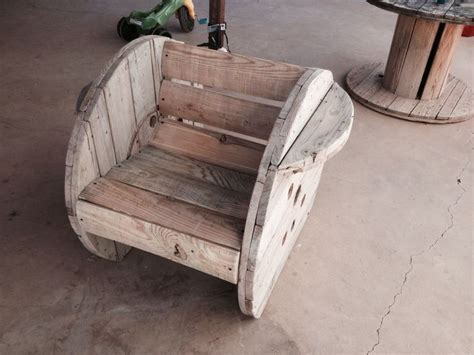 Wooden Spool Chair by Spool Chair Wood