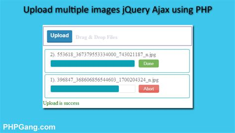 jquery tutorial download zip how to upload multiple images jquery ajax using php