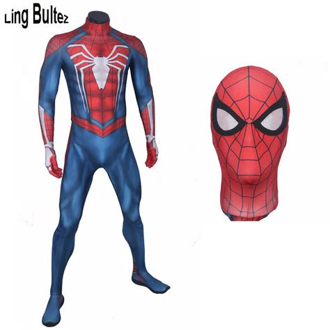 Insomniac Spidermanps4 Pattern bultez high quality ps4 insomniac costume 3d print spandex