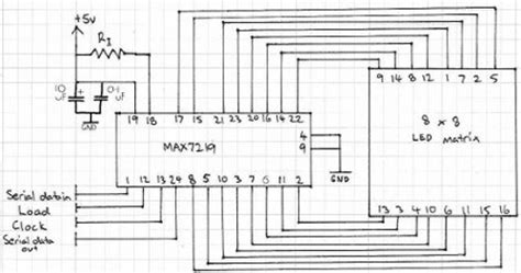 Max7219 Led Dot Matrix 4 8x8 88 4 In 1 Fc 16 Fc16 tutorial arduino and the max7219 led display driver ic