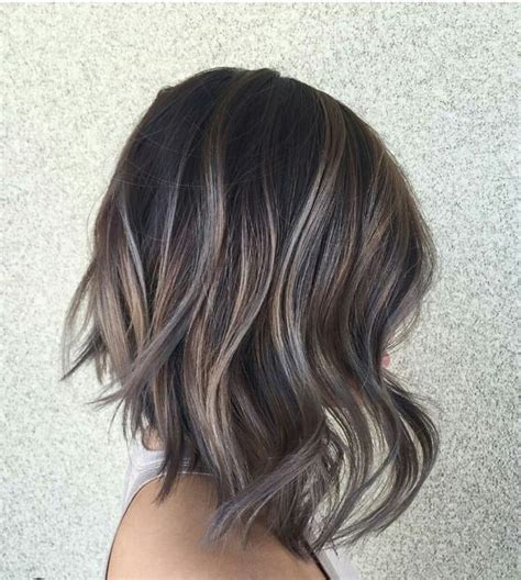 ash brown with grey highlights 60 best hairstyles for 2018 trendy hair cuts for women
