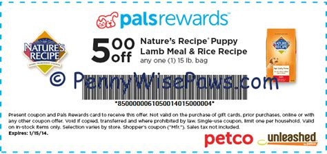 image gallery nature s dog food coupons