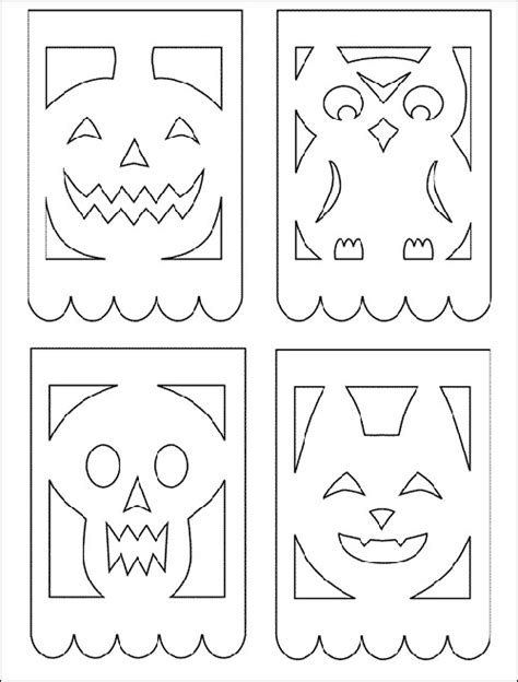 Papel Picado Patterns Halloween Google Image Result For Http 2 Bp Blogspot Com Vv6pujfpjga Free Printable Papel Picado Template
