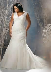 Plus size lace wedding dresses prom dresses