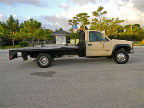 find used 1997 chevy 3500 flatbed 8 aluminum bed 7 4 liter engine in medina ohio united states sell used 1997 chevy gmc 3500 2500 4x4 turbo diesel 12 flatbed utility service truck in