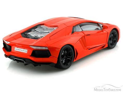 Model Car Lamborghini Aventador Lamborghini Aventador Lp700 4 Orange Motormax 79154r
