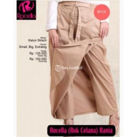 New Rok Rh085 Harga Murah celana rok rocella rania polos model praktis new harga