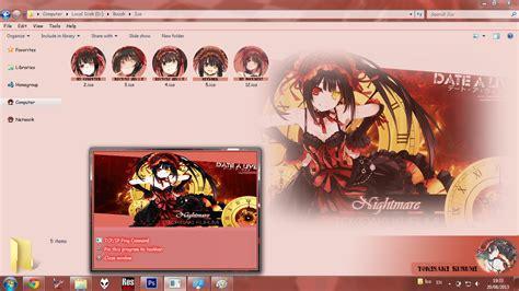 theme windows 7 kurumi tokisaki theme 7 quot tokisaki kurumi quot date a live v2