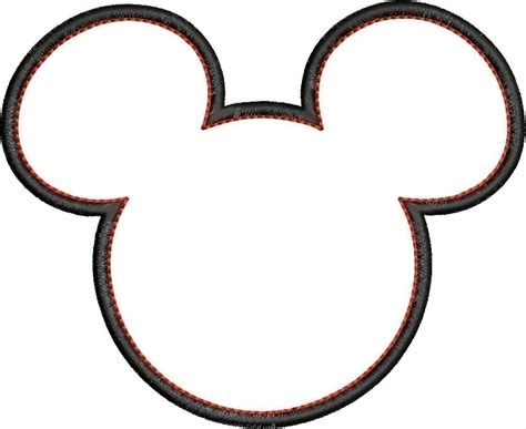 mickey mouse ears coloring page free coloring pages of mickey mouse head outline