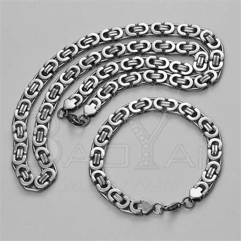 joyas cadenas de plata plateadas joyas de acero inoxidable cadenas y pulseras