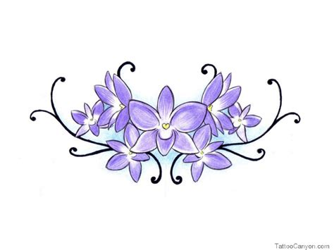 violet flower tattoo designs violet cliparts co