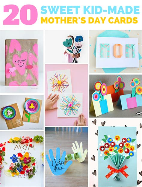 mothers day cards toddlers can make 20 sweet kid made s day cards