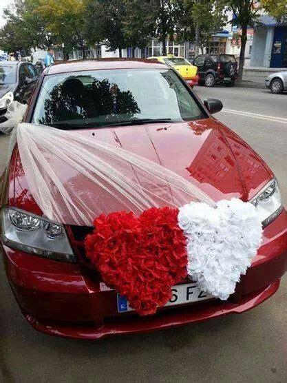 Red & White Heart   Wedding Cars Ideas   Wedding car