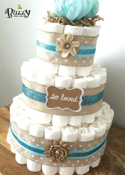Shabby Chic Baby Shower Centerpieces by Shabby Chic Blue 3 Tier Cake Boy Baby Shower