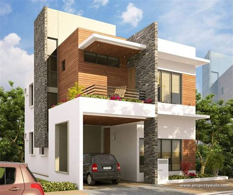 front elevations of indian economy houses house front elevation design for double floor theydesign