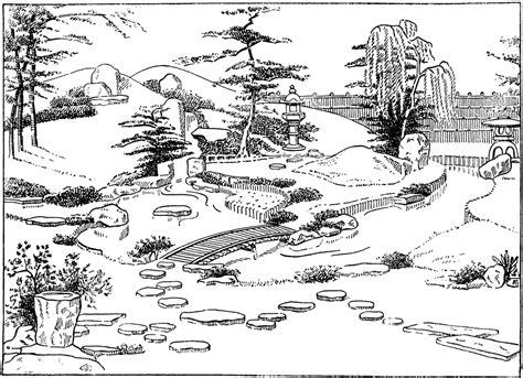japanischer garten zeichnung japanese garden clipart