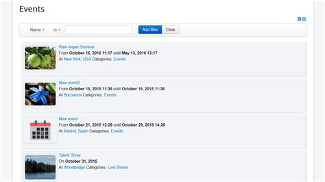 Joomla Event Calendar