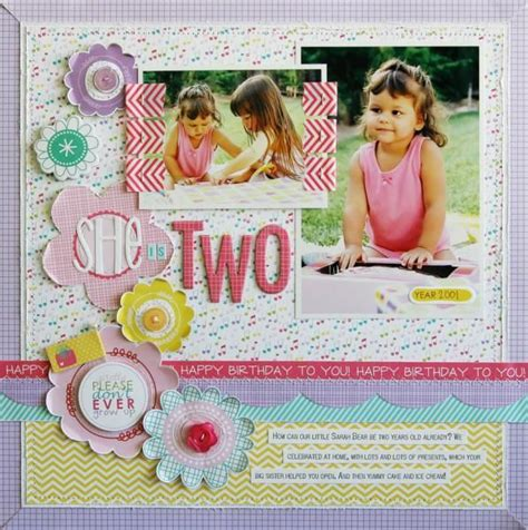 double page scrapbook layout birthday stock photos 176 best images about scrapbooking layouts birthdays on