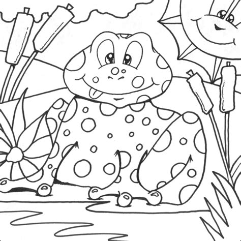 Frog Colouring Page Coloring Pictures For