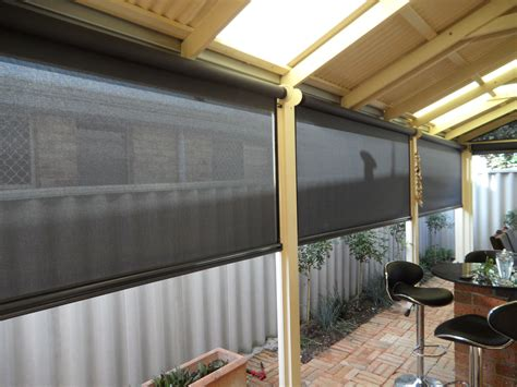 outdoor awning blind outdoor blinds perth action awnings