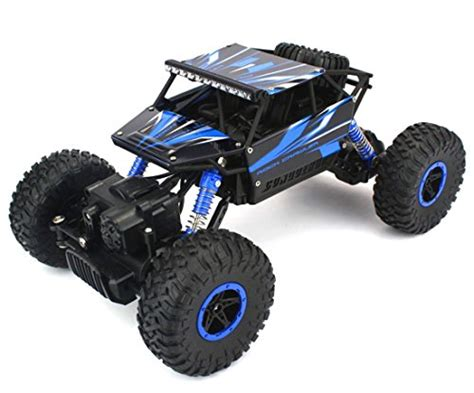 Rc Rock Crawler 4wd 2 4 Ghz Blue Black remote truck bo toys 1 18 rock crawler 2 4ghz remote car 4wd road rc