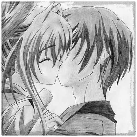 imagenes para dibujar a lapiz de anime amor dibujos a lapiz de amor anime y emociones dibujos de