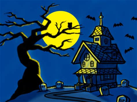 haunted house cartoon haunted house spooky tree cartoon illustration by george coghill dribbble
