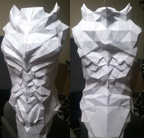 How To Make A Paper Armor - daedric armor wip by kuraudo3 on deviantart