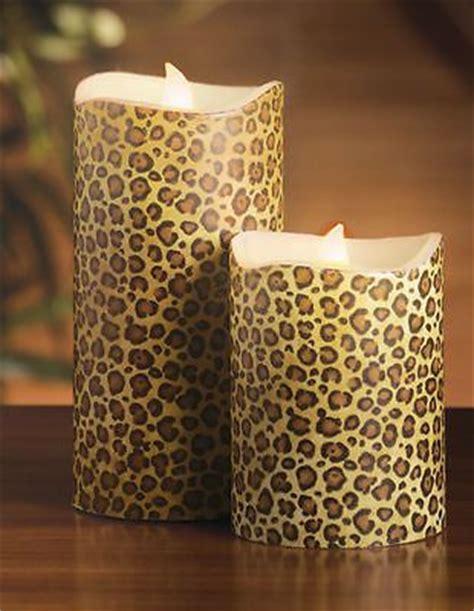 leopard home decor 2 led leopard print candles safari home decor