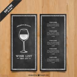 wine menu templates wine list template vector free