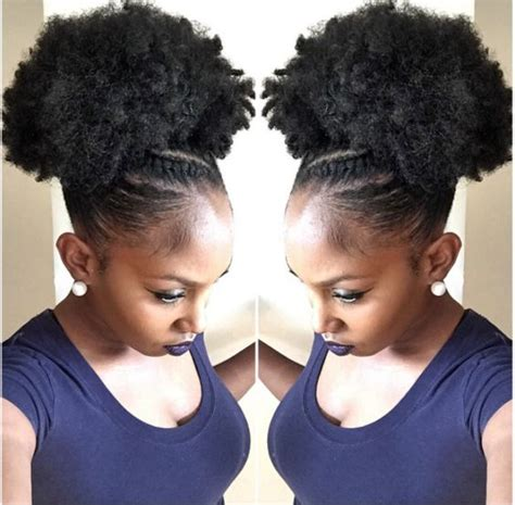 puffy drawstring updo afro kinky hairstyles 211 best microbraided crochet
