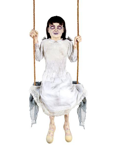 swing girl zombie girl swing animated prop spirit halloween