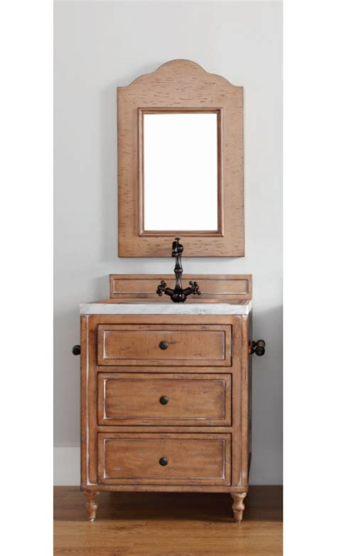 26 inch single sink bathroom vanity in driftwood patina