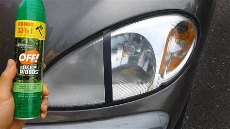 how to fix synchrolights lights item you youtube bug spray headlight restoration this is a to show you how bug spray with deet can clean