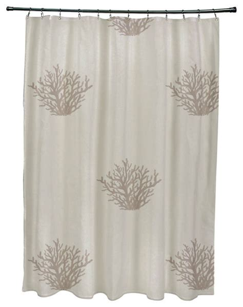 coral print curtains coral corral coastal print shower curtain flax